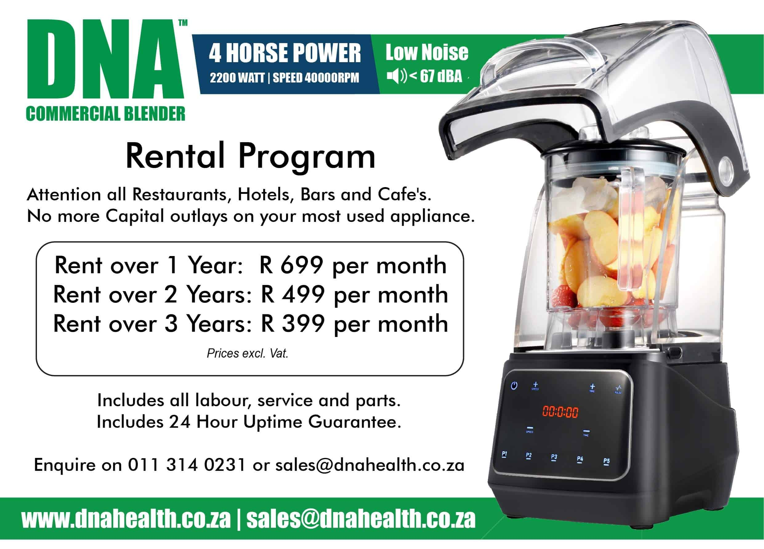 DNA Commercial Blender on Rental